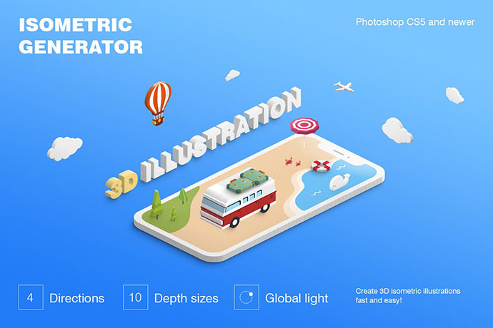 Isometric Illustration - 3D Generator