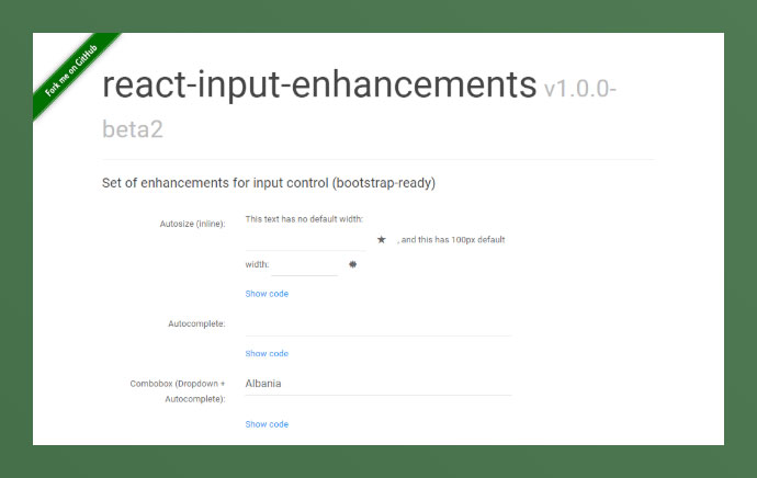 React Input-enhancements