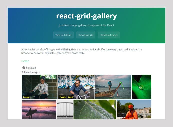 React Grid-gallery