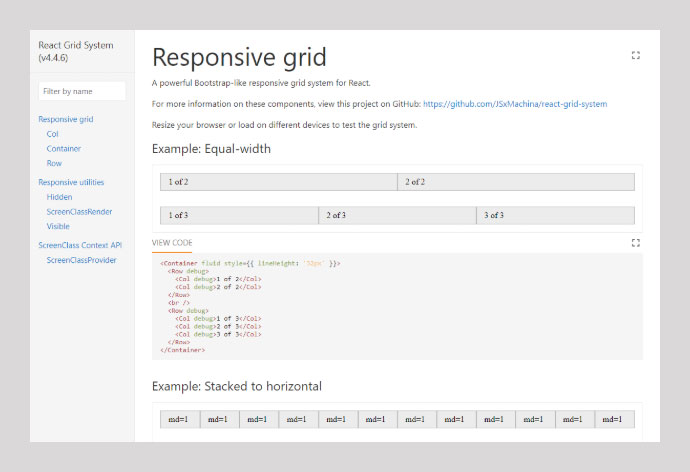 React Grid-system