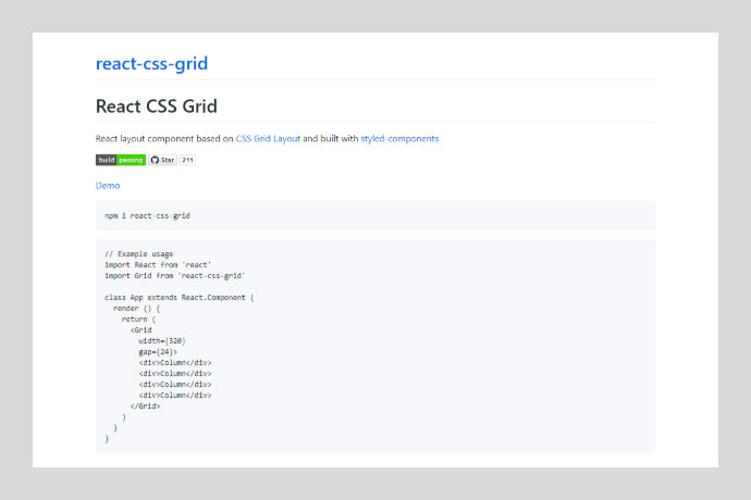React Css-grid