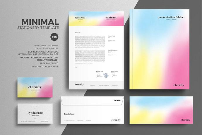 Minimal Stationery Design Template