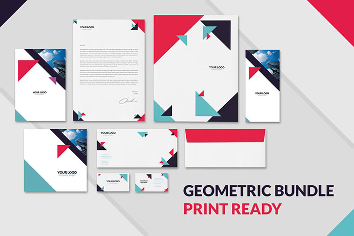 Geometric Brochures and Stationery