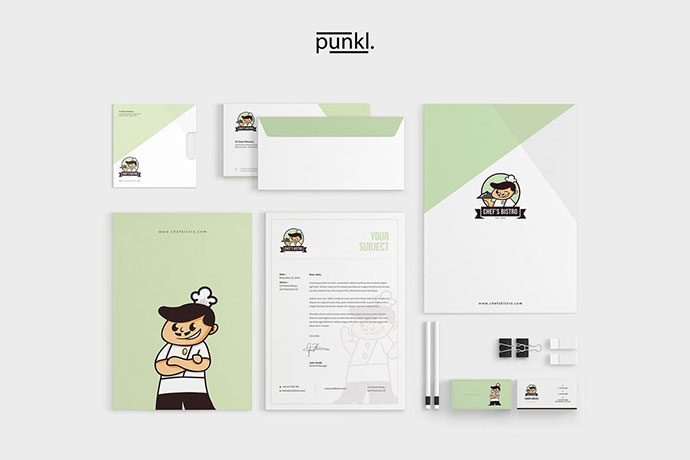 ChefBistro Stationery Design