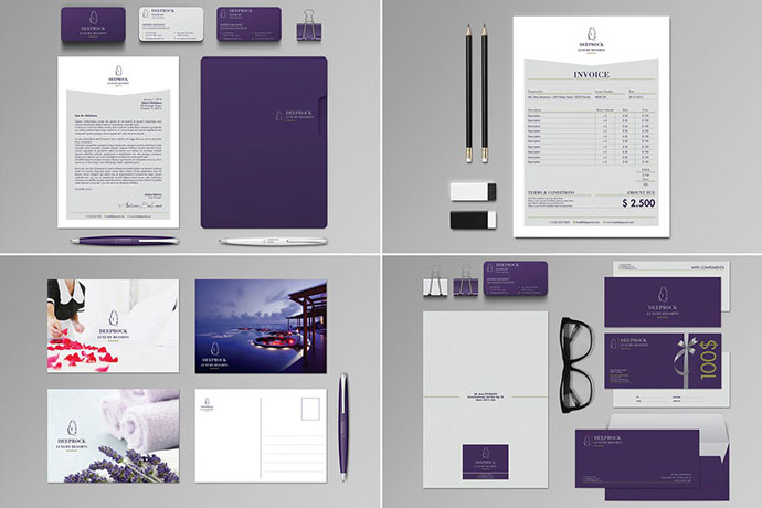 Deeprock Stationery Set & Invoice