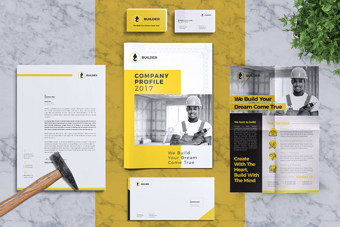 Builder | Construction Corporate Branding Identity