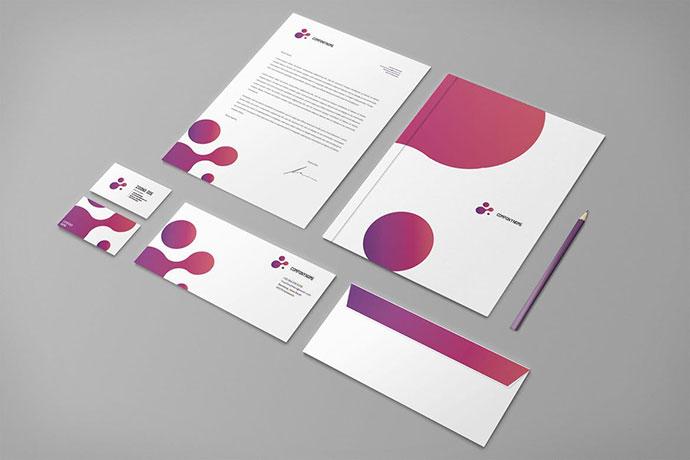 Modern Purple Business Stationery