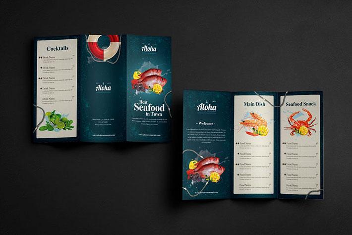 Seafood Menu 3 Fold