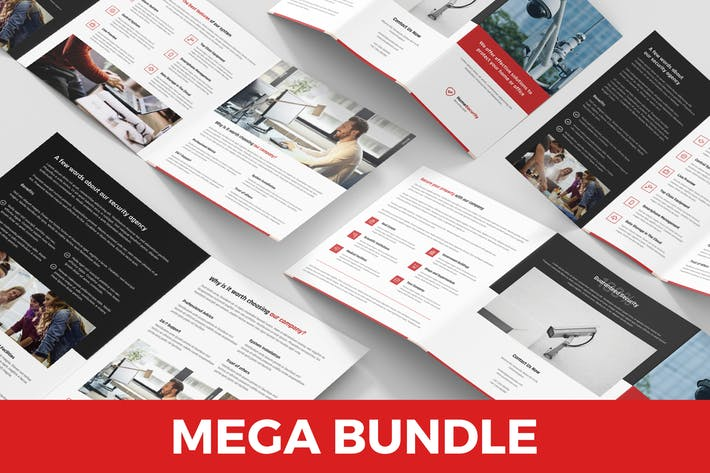 Home Security – Brochures Bundle 4 in 1