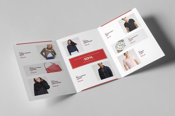 Brochure – Fashion Look Book Tri-Fold A5