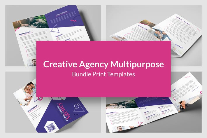 Creative Agency – Bundle Print Templates 6 in 1