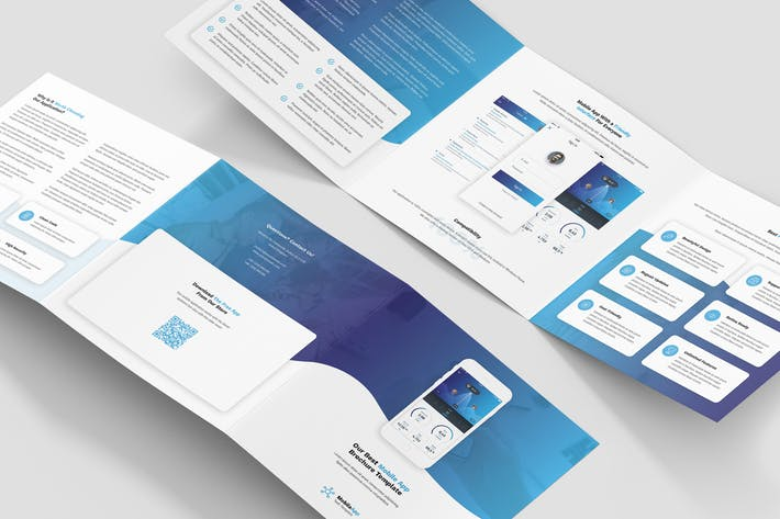 Brochure – Mobile App Tri-Fold Square