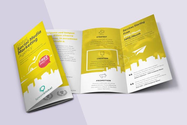 Social Media Tri-fold Brochure
