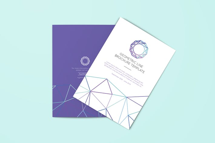Geometric Line Brochure Template