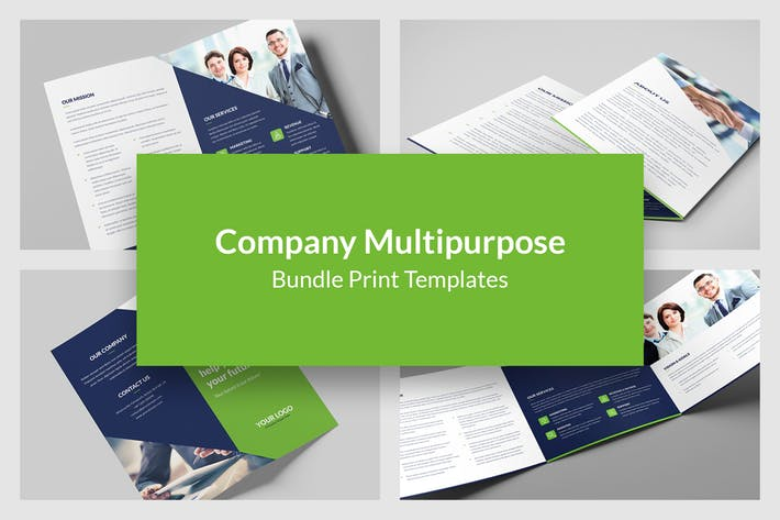 Company – Brochures Bundle Print Templates 5 in 1