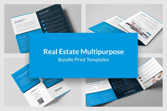 Real Estate – Bundle Print Templates 6 in 1