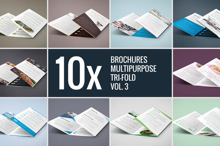 Brochures – Multipurpose Tri-Fold Bundle vol. 3