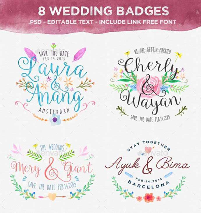 8 Wedding Badges