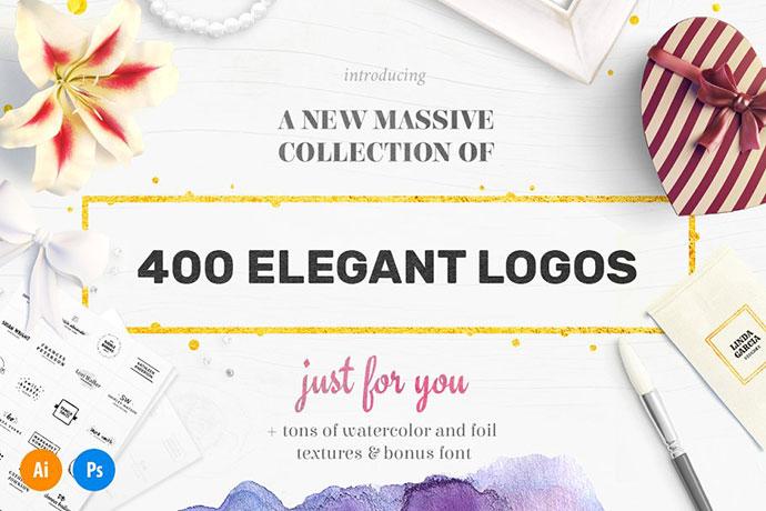 Elegant Logo Bundle - 400 Logos