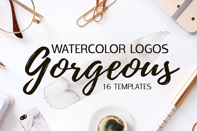 Gorgeous Watercolor Logo Templates