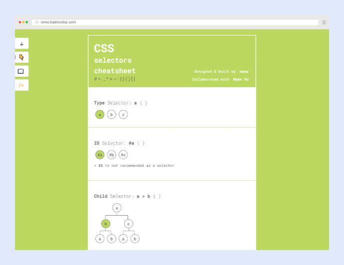CSS Selectors Cheatsheet