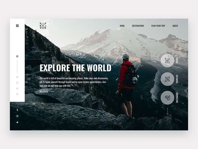 WILD Travel Website Concept