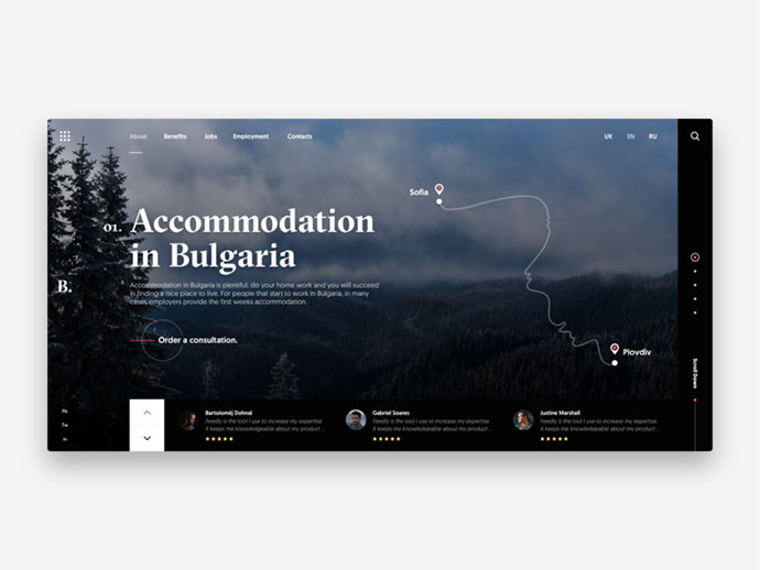Accommodation in Bulgaria - design concept