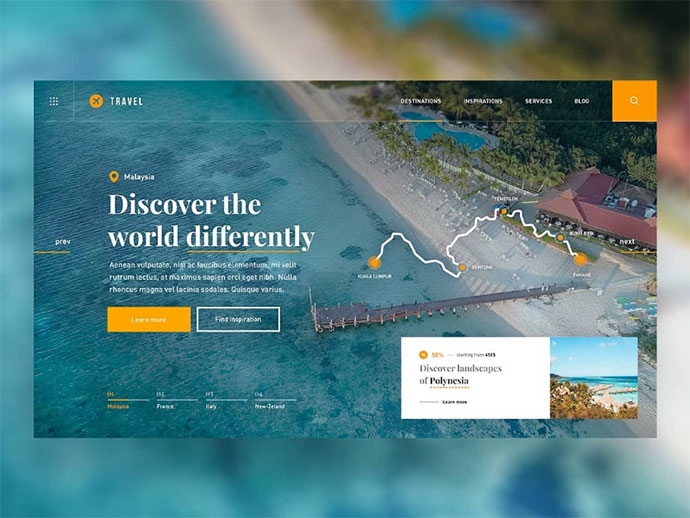 Travel Guide — Website Concept