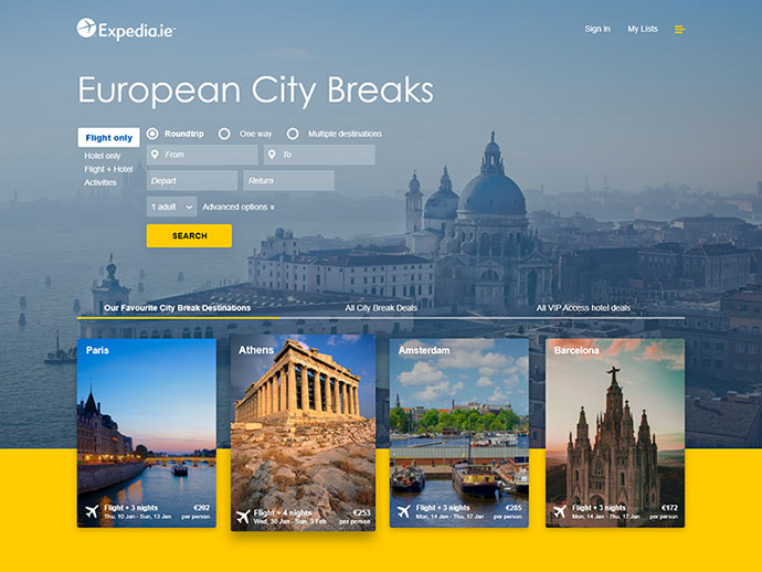 UI Challenge 001 Expedia Cover