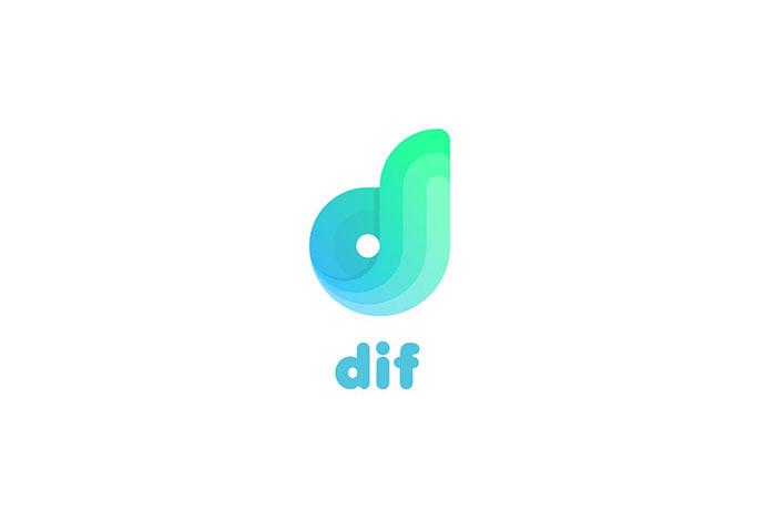 Dif D Letter Logo