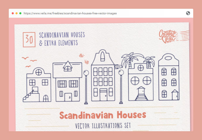 Scandinavian Houses: Free Vector Images