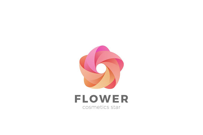 Logo Flower Star Abstract Looped Infinity