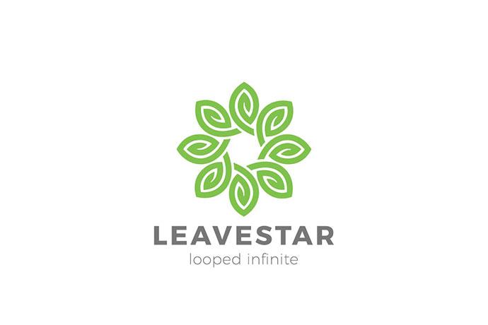 Logo Flower Leaves Star Infinity Loop Leaf