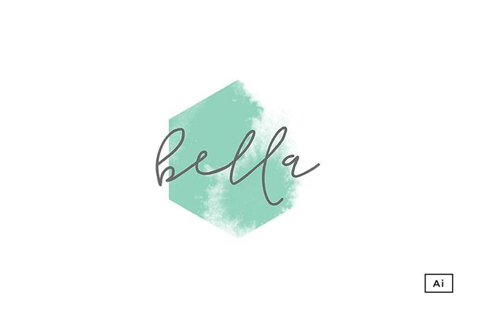 Bella Hexagon Logo Template