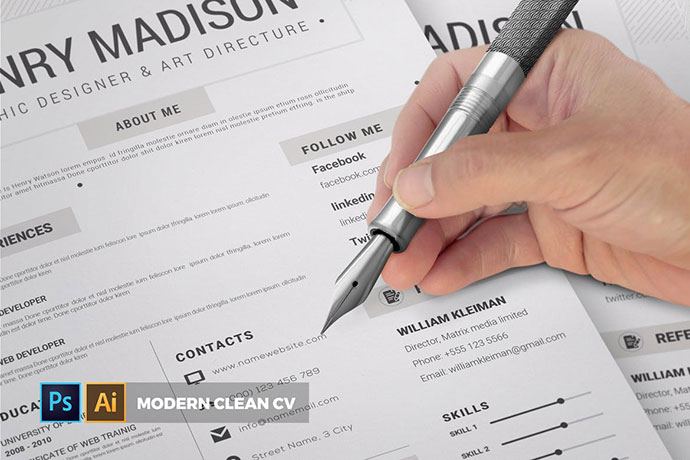 Modern Clean | CV & Resume
