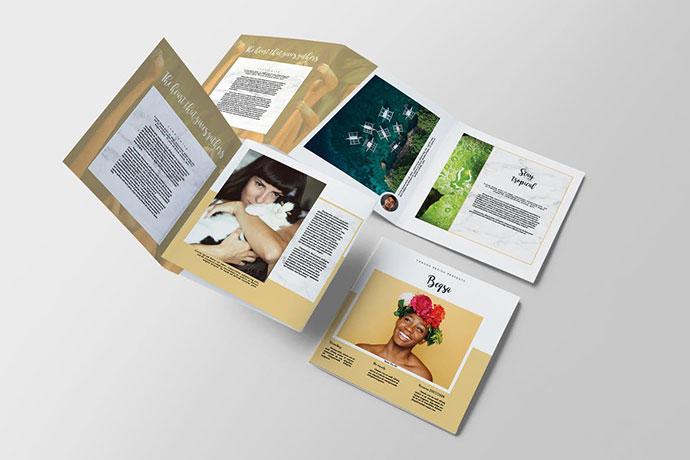 Beqsa Square Trifold Brochure