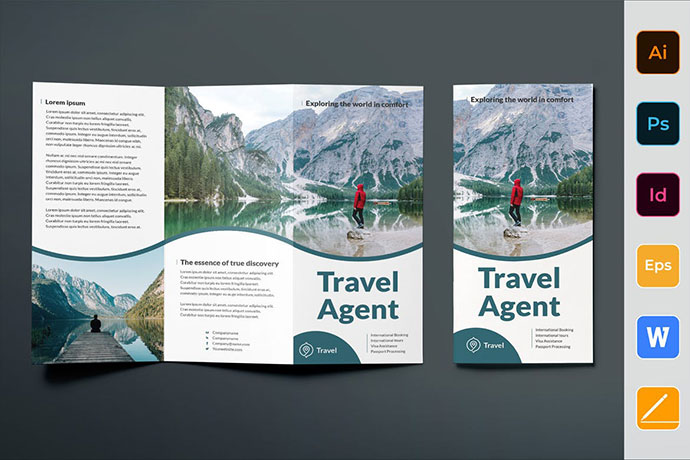 Travel Agent Agency Brochure Trifold