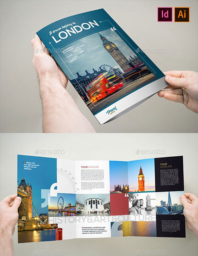 Travel & Holiday Brochure 3xA4 Trifold