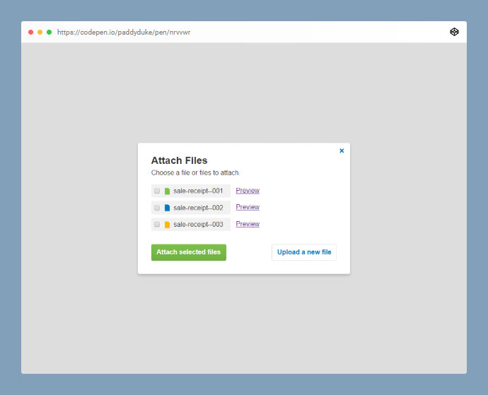 File Upload With Preview Codepen