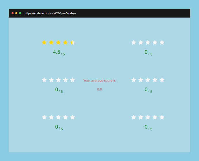 Star Rating Animation