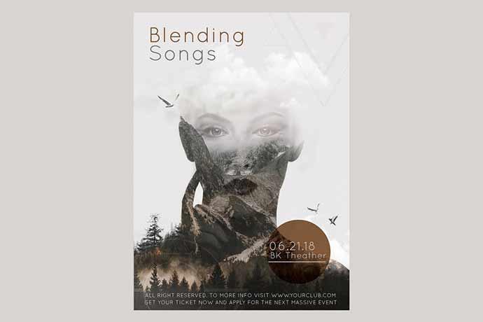 Blending Songs Flyer Poster