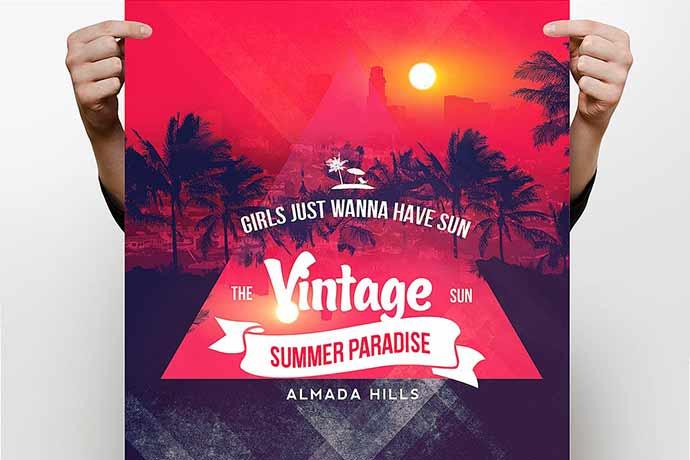 Vintage Summer Flyer