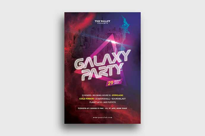 Galaxy Party Flyer