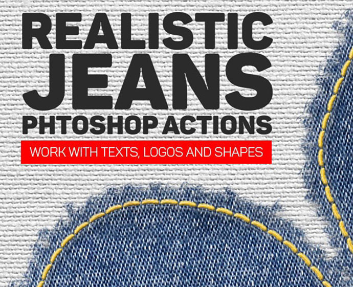 Realistic Jeans Photoshop Action