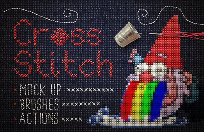 Cross Stitch Photoshop Action