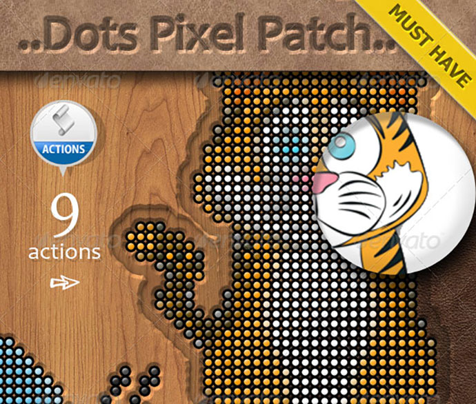 Dots Pixel Logo Photoshop Creator