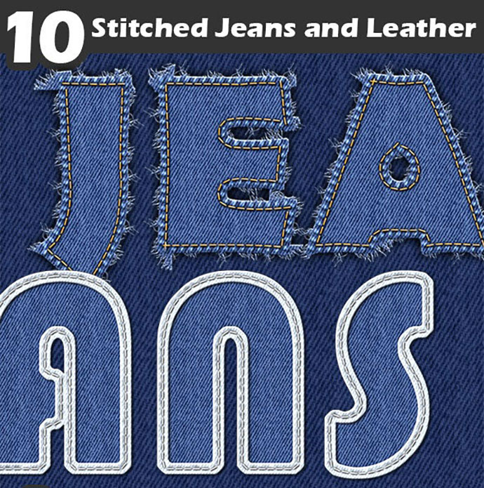 Stitched Jeans and Leather