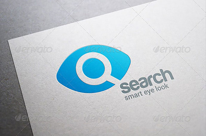 Search Eye Magnified Glass Logo