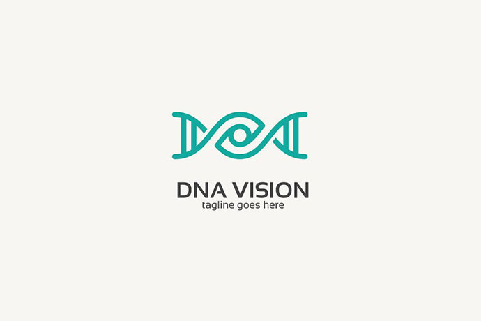 Dna Eye Logo