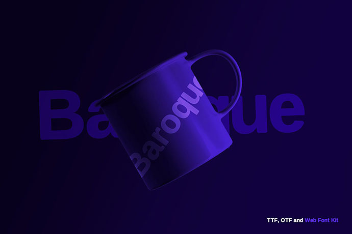 Baroque sans Typeface + Webfonts